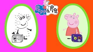 Peppa Pig - Surprise Eggs! Let's Draw Peppa Family - Learning with Peppa Pig thumbnail
