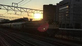 高松駅2700系甲種輸送+EF65-2091発車