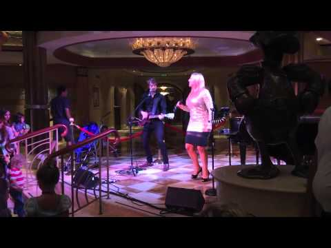 Mandy Meadows Duo with tracks live aboard the Disney Dream