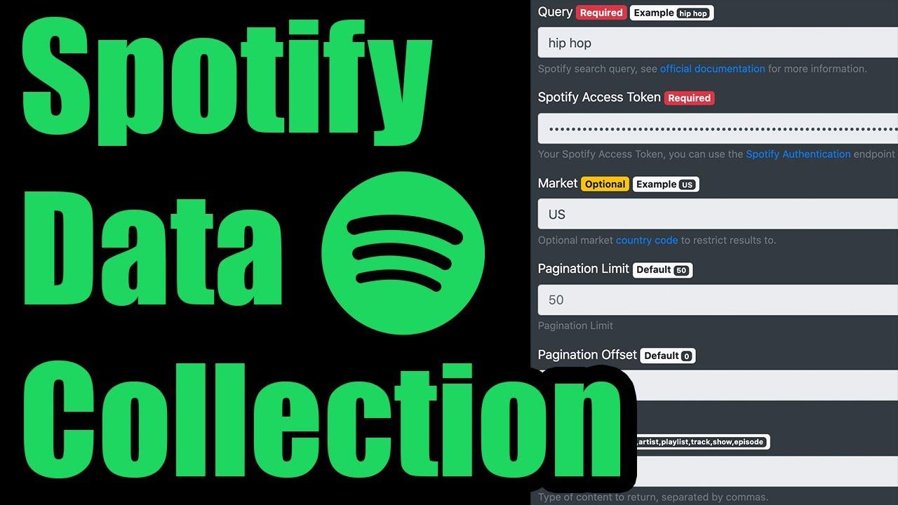 Scrape Spotify Catalog Data Via Api How To Authenticate Download Artists Tracks Shows More Youtube