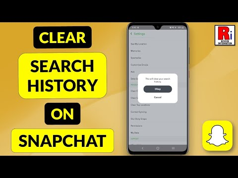 How to get snapchat search history