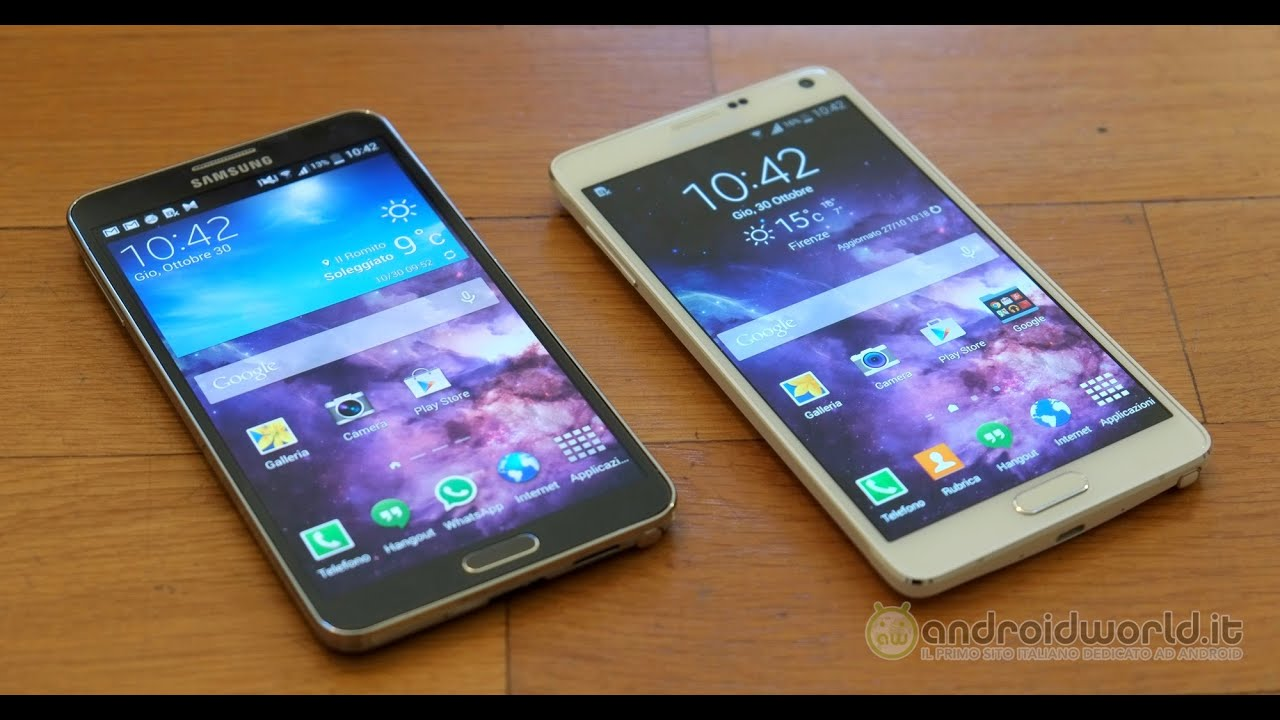 Samsung Galaxy Note 3 vs Note 4, confronto in italiano