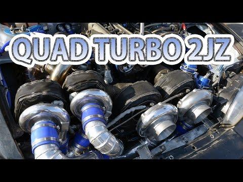 Quad-turbo 2JZ first test drive. Caroline Racing's S14 Silvia