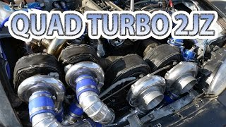 Quad-turbo 2JZ first test drive. Caroline Racing's S14 Silvia