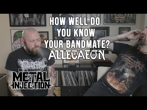 "ALLEGAEON Plays ""How Well Do You Know Your Bandmate?"" With Shots! 