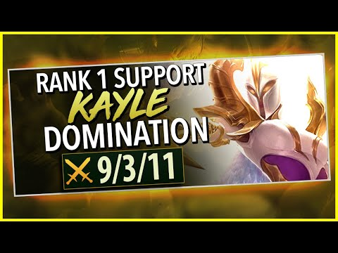 PLAY KAYLE LIKE THE RANK 1 CHALLENGER SUPPORT - League Of Legends