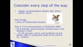 Bradford & Barthel - Negotiating the Very Best Workers' Compensation Settlement (Part I)