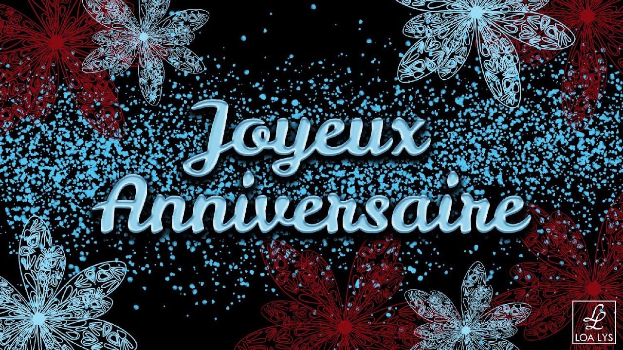 Joyeux Anniversaire - CARTE VIRTUELLE D'ANNIVERSAIRE - fleurs - YouTube