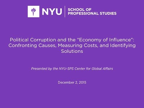 """Political Corruption & the """"Economy of Influence"""""""
