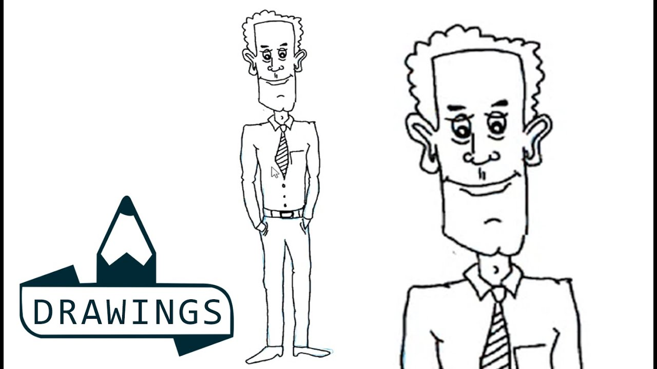 Speed Drawing : How to draw a Employee ( Basic and simple