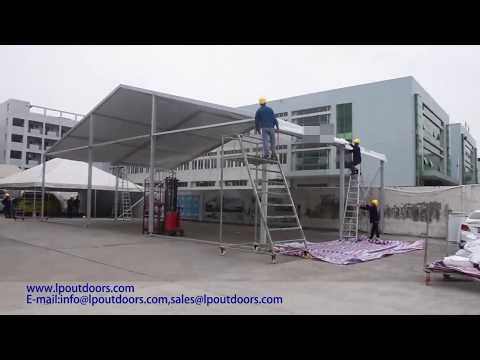 16m 50' clear span luxury party wedding event marquee tent installation