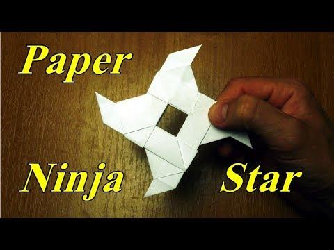 How To Make a Paper Ninja Star Shuriken Origami