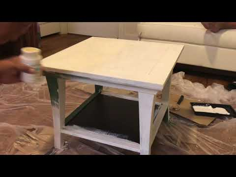 Thrift Store DIY: Farmhouse Distressed Side Table