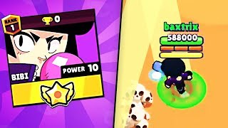 MAX POWER BIBI, 0 TROPHIES!.. // BrawlStars