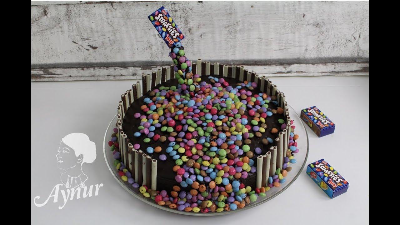 Einfaches Smarties Kuchen Fur Kindergeburtstag Youtube