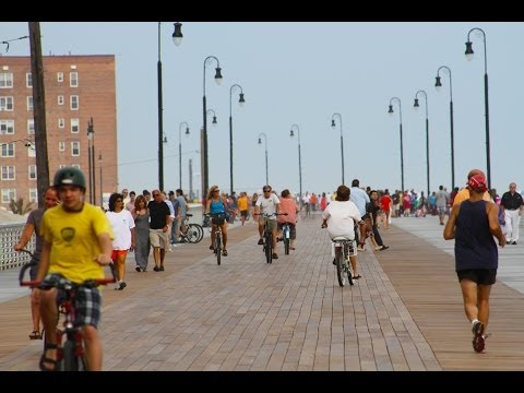 New Long Beach Boardwalk New York