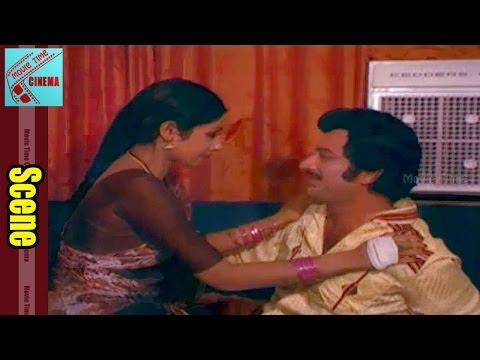 Love Scene Between Sridevi & Krishna || Bhoga Bhagyalu Movie || Gummadi
