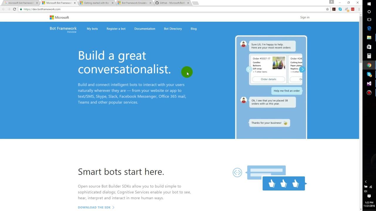 Microsoft Bot Framework Tutorial - Bot Application & Emulator