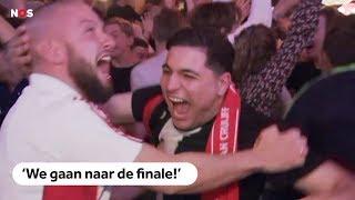 Zo gaat Amsterdam los na zege Ajax op Juventus