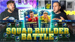 FIFA 21: TOTS HAALAND VS LEWANDOWSKI Squad Builder Battle 🔥🔥 IamTabak vs Wakez !!