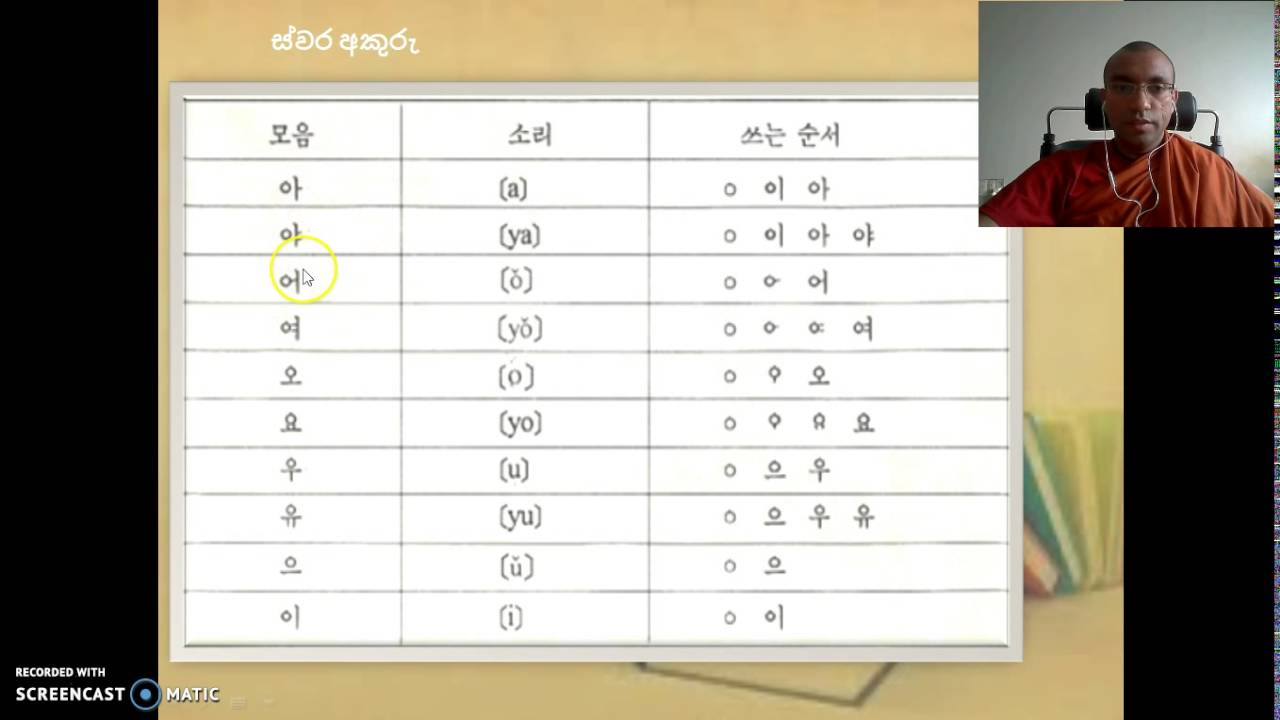 how to learn korean language in sinhala