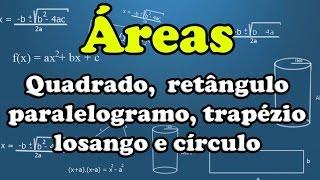 Áreas das principais figuras planas