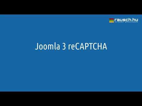 Joomla 3 ReCAPTCHA Plugin Beállítása