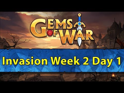 ⚔️ Gems of War Invasions | Week 2 Day 1 | Sunbird, Rowanne, 2x Firebomb, Because We Can ⚔️