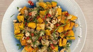 Салат из тыквы с семечками, кунжутным маслом и чесноком. Ели у Емели. Вып.012