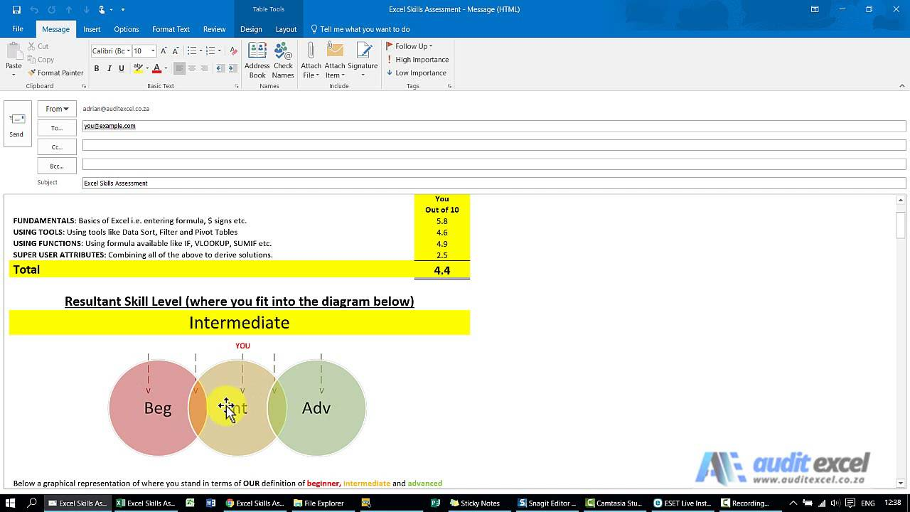 Free MS Excel Skills Assessment | MS Excel Training Courses