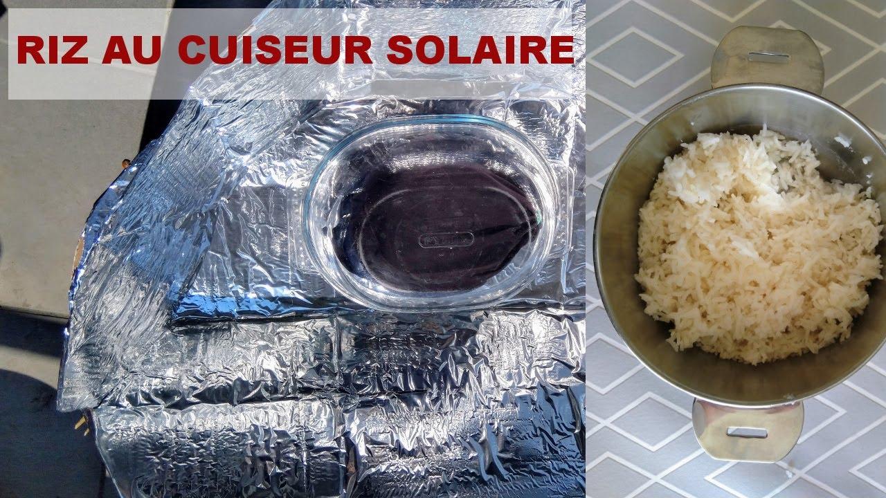 Riz au cuiseur solaire