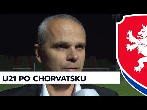 U21 - V. Lavička a V. Černý po utkání v Chorvatsku, kvalifikace ME 2019, 9. 10. 2017