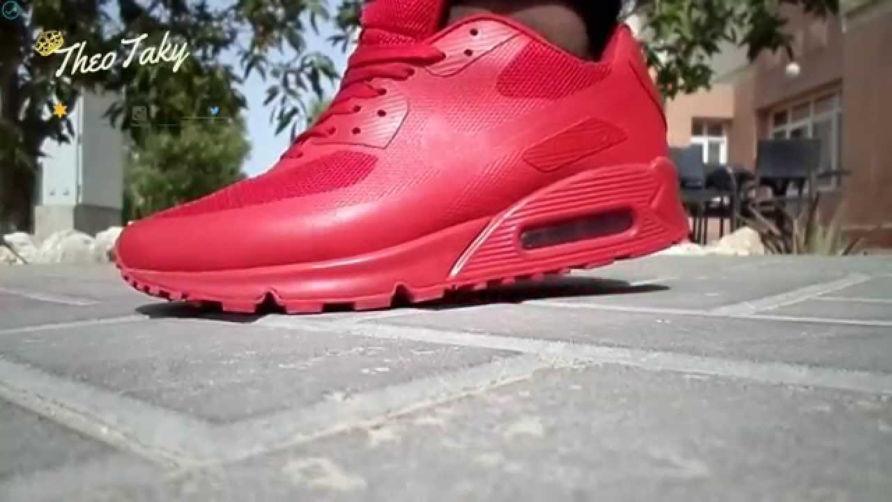198c510f30ba Nike Air Max 90 Hyperfuse Solar Red (On Feet Review) - YouTube