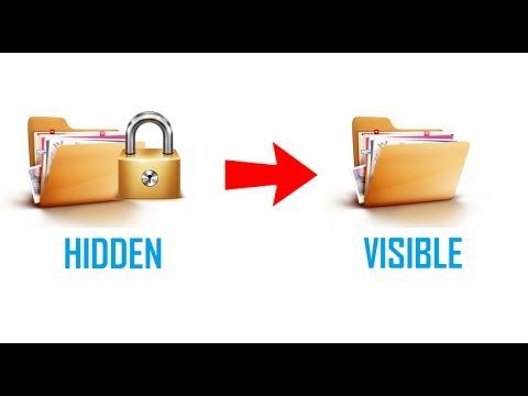 how to make a hidden folder windows 10