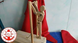 Как сделать Механическую поделку из дерева Гимнаст на перекладине, своими руками