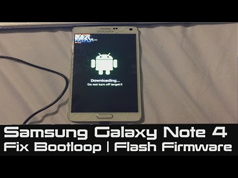 How to Fix Bootloop on Samsung Galaxy | Note 4 Stuck at Boot | Flash Firmware to Fix Soft Brick