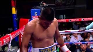Alacrán Berchelt noqueó en cinco rounds a Cristobal Cruz
