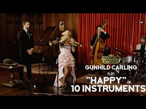 Happy  Pharrell Williams on 10 Different Musical Instruments  ft Gunhild Carling