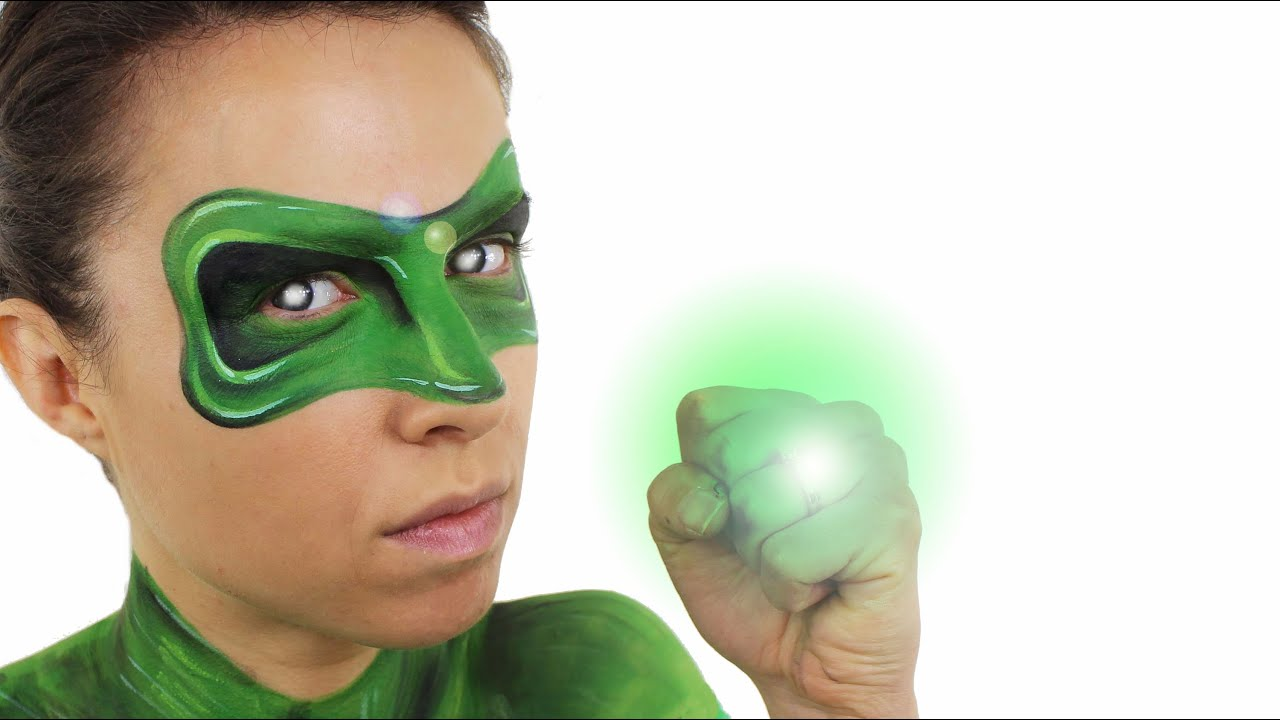 Green lantern mask face paint - photo#3
