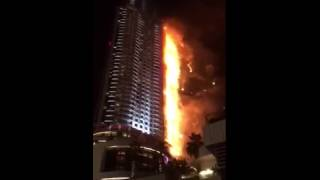 Fire at The Address, Downtown #Dubai 2016 new years 2016 fireworks show burj khalifa