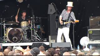 Gaz and Danny from Supergrass as Hot Rats - The Love Cats - Glastonbury Park Stage