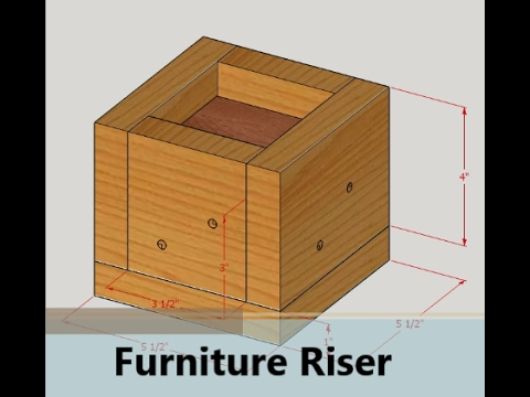DIY Bed Risers  Furniture Risers -