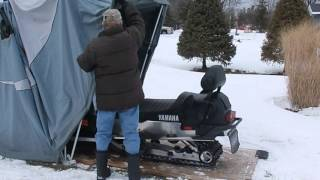 Speed Way snowmobile Touring Video