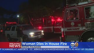 Woman Dead In Pacific Palisades Townhouse Fire