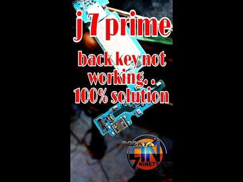 sam j7 prime (g610f) back button not work  100%tested