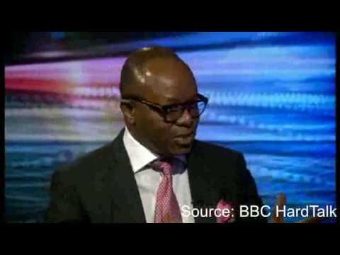 Emmanuel Ibe Kachikwu, Nigeria's Minister for Petroleum Resources, speaking to BBC's HardTalk