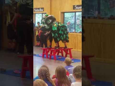 Chinese Lion dance at Girls Adventure Camp