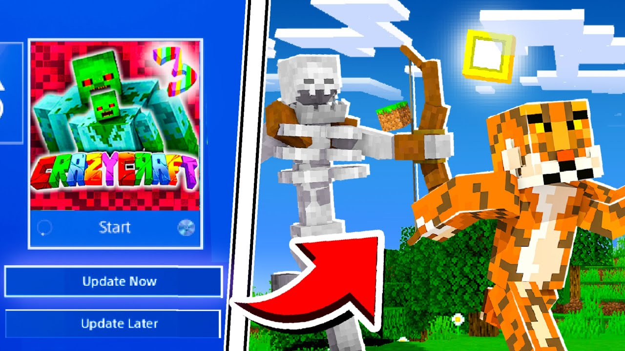 NEW* Minecraft PS4 Bedrock How To Install Mods Minecraft PS4