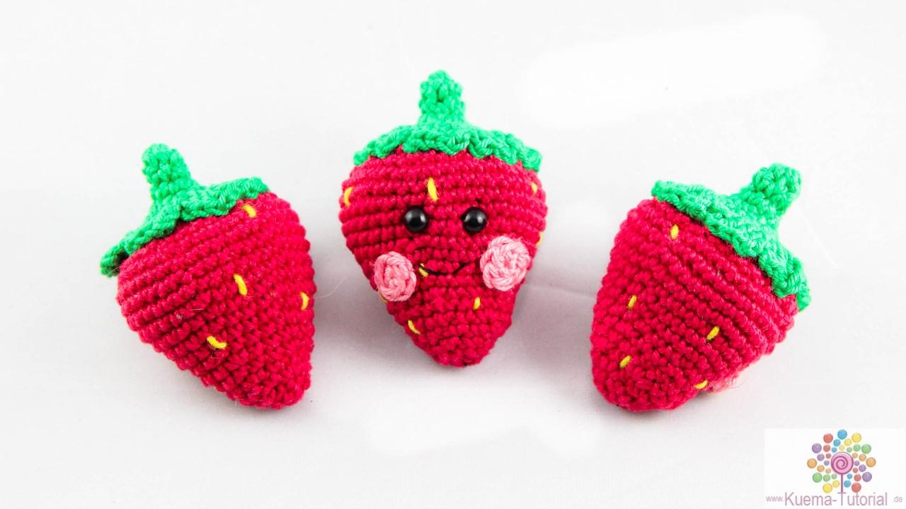 DIY: Erdbeeren Häkeln Amigurumi | Anleitung | Anfänger - YouTube