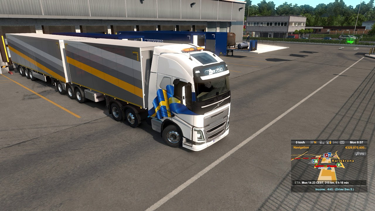 Euro Truck Simulator 2 V1 32 Trailer Ownership Update B Double Drive